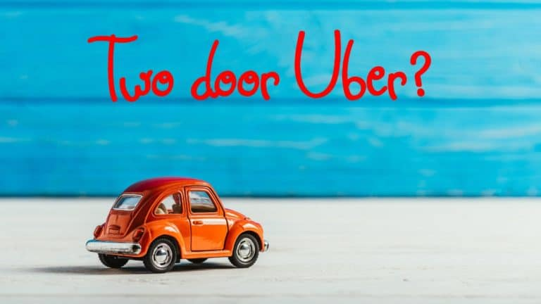 Can you drive a two door car for Uber?